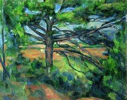 Paul Cézanne Grand pin et terre rouge
