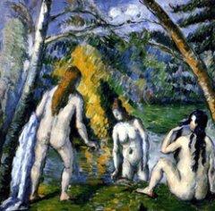 Les trois baigneuses, Paul Cézanne