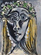 Picasso, Tête de femme couronnée de fleurs