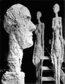Alberto Giacometti, sculptures, photo Ernst Scheidegger