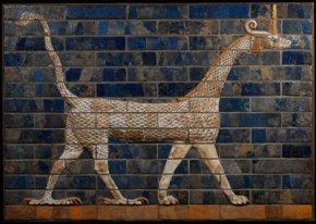 Exposition Babylone au Louvre, dragon passant à droite