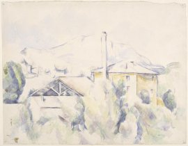 Musée d'Orsay, accrochage aquarelles, Cézanne, le four à plâtre
