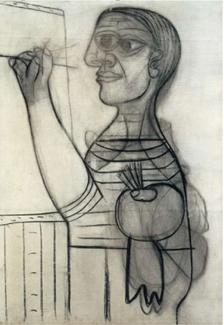 Picasso et les maîtres au Grand Palais, Picasso autoportrait