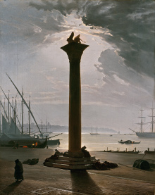 Voir l'Italie et mourir au musée d'Orsay, la place saint marc au clair de lune
