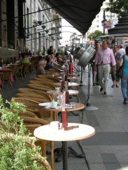 Madrid, circulo de bellas artes, terrasse café