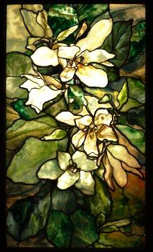 Expo Tiffany au Luxembourg, vitrail magnolias