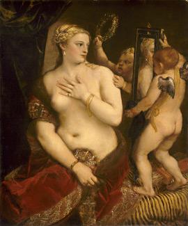 Rivalités à Venise, Titien, Vénus au miroir