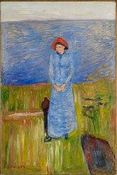 Edvard Munch, femme au chapeau rouge