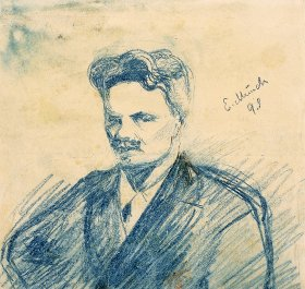 Edvard Munch, portrait d'August Strindberg