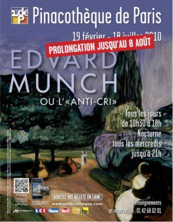 Pinacothèque de Paris, exposition Munch prolongée