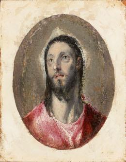 El Greco, miniature Tête du Christ