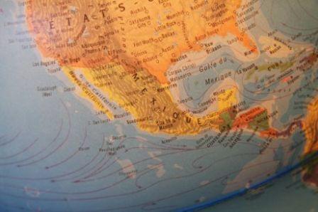 le mexique sur le globe