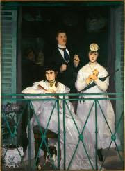 Exposition Manet Inventeur du Moderne, le balcon