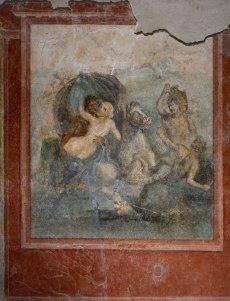 Exposition Pompéi au Musée Maillo, fresque triclinium
