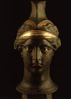 Exposition Pompéi au Musée Maillo, tête de femme