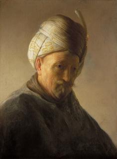 Exposition Kremer à Pinacothèque, vieil homme au turban de Rembrandt