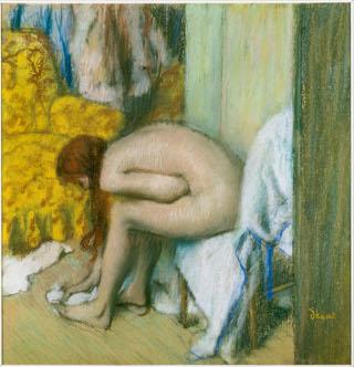 Après le bain, femme nue s'essuyant les pieds, Degas et le nu