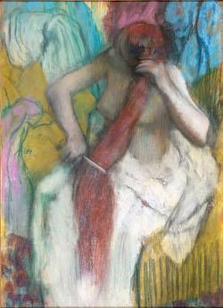 Femme se peignant, Degas et le nu