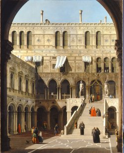 Canaletto, le grand escalier