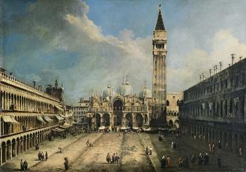Canaletto, vue de la place Saint Marc