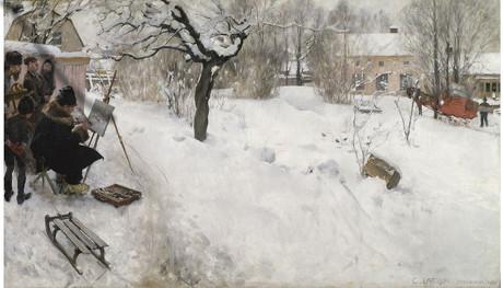 Carl Larsson, Le peintre en plein air, 1886, huile sur toile © Nationalmuseum, Stockholm