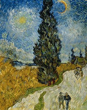 Vincent Van Gogh (1853-1890) Route de campagne en Provence de nuit 1890 Huile sur toile H. 92 ; L. 73 cm Otterlo, collection Kröller-Müller Museum © Kröller-Müller Museum