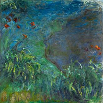 Claude Monet, Hémérocalles au bord de l'eau, vers 1914-1917, collection particulière par l'intermédiaire du Museum of Fine Arts, Houston © Collection particulière