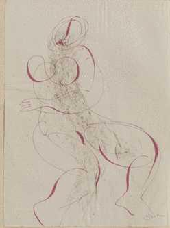 Dessin de femme pourL'Alleluiah, Catéchisme de Dianusde Georges Bataille, 1947 ADAGP 2014 © Musée du Domaine départemental de Sceaux. Photo Philippe Fuzeau