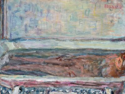 Pierre Bonnard, Nu dans la baignoire, sans date (vers 1940 ? ). Aquarelle et gouache sur papier, 23,5 x 31,5 cm.  ADAGP Courtesy Galerie Bernheim-Jeune, Paris/Christian Baraja