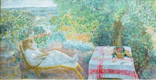 Femme dans un paysage ou La sieste au jardin - 1914