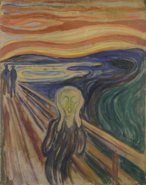 Edvard Munch, Le Cri, 1893 ?  1910 ? Tempera et huile sur carton non apprêté, 83,5 × 66 cm Oslo, musée Munch Photo © Munch Museum