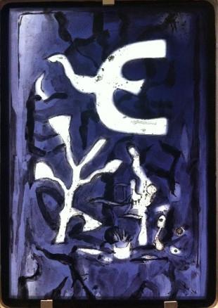 Georges Braque, L'oiseau sur fond violet
