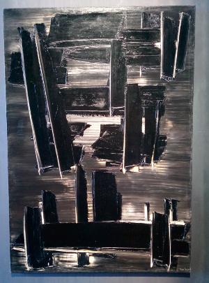 Pierre Soulages Peinture, 162 x 114 cm, 27 août 1958, huile sur toile Donation Pierre et Colette Soulages