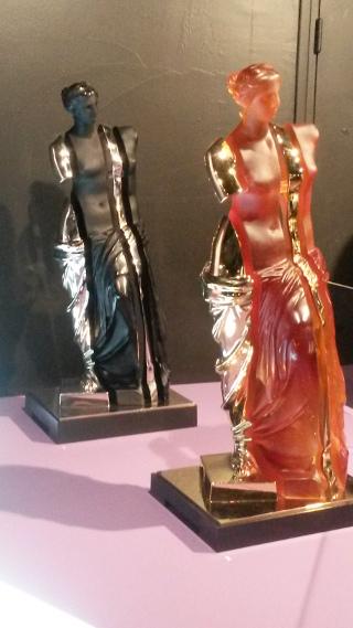 Arman, L'âme de Vénus, pâte de cristal et or (2009), pâte de cristal et argent (2008)