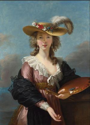 Elisabeth Vigée Le Brun, Autoportrait au chapeau de paille