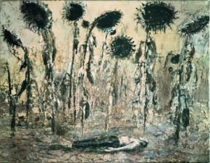 Die Orden der Nacht [Les Ordres de la nuit](1996), acrylique, émulsion et Shellac sur toile, 356 x 463 cm, Seattle Art Museum, Photo : © Atelier Anselm Kiefer