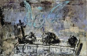 Anselm Kiefer, Resumptio, 1974—Huile, émulsion et shellac sur toile de jute—115 x 180 cm Collection particulière—Photo : © Atelier Anselm Kiefer