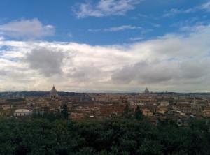 La vue sur Rome depuis les jardins de la Villa Médicis