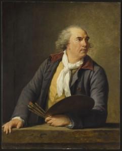 Elisabeth Louise Vigée-Lebrun, Hubert Robert, 1788. Huile sur panneau de chêne. Musée du Louvre © RMN-Grand Palais (musée du Louvre) Jean-Gilles Berizzi