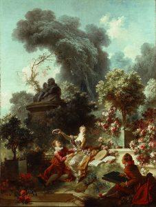 Jean-Honoré Fragonard, L'amant couronné, 1771-1772